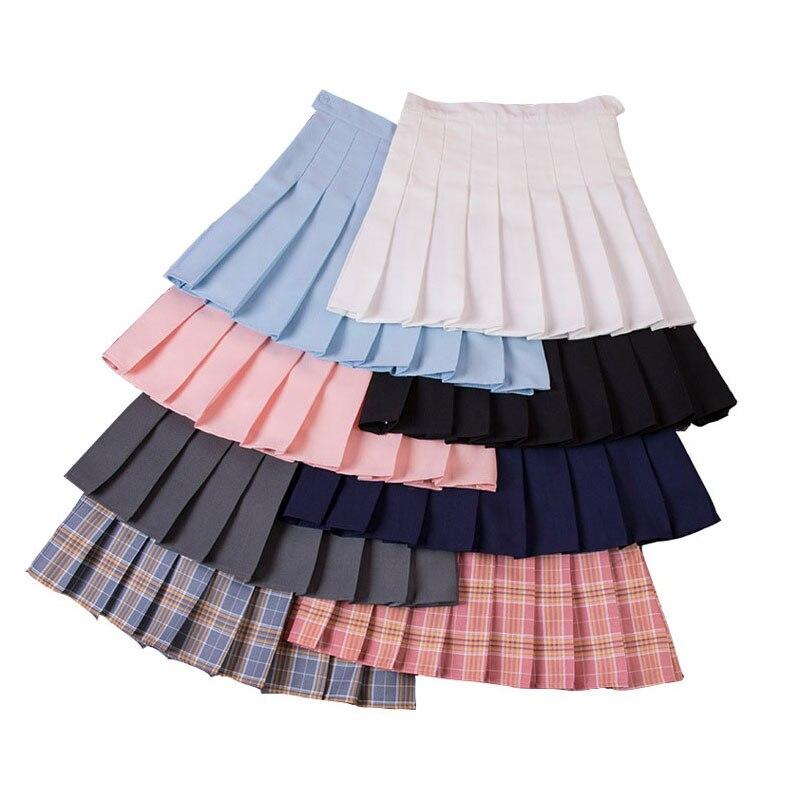 High Waist Women Skirt Summer Party Mini Skirts Summer Ladies Skirt Casual Fashion Girl Mini Short Skirt Uniforms Preppy Style
