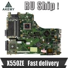 Akemy X550ZE A10-7400U scheda madre Del Computer Portatile Per Asus X550ZE X550Z X550 K550 VM590Z A555Z K555Z X555Z Prova mainboard originale EDP