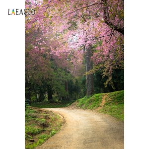 Image 3 - Laeacco printemps Portrait Photophone forêt fleur arbres chemin photographie arrière plans bébé nouveau né Photo arrière plans Photozone