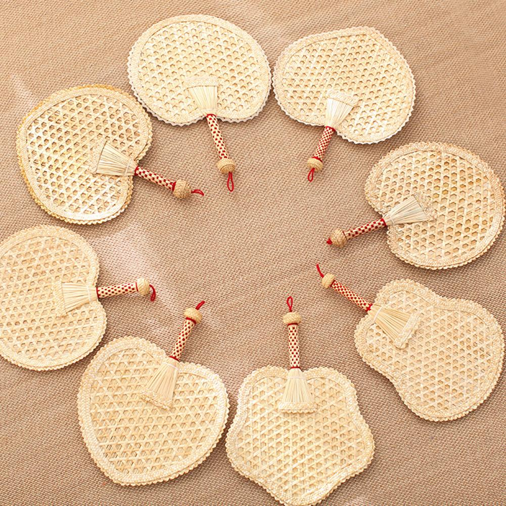 Handmade Woven Wheat Straw Weaving With Hand cranked Big Fan Old Man Summer Natural Hand Fan in Decorative Fans from Home Garden