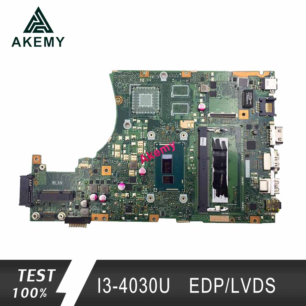 Akemy X455LA placa base para ASUS X455L X455LJ X455LN X455LD A455L F455L K455L portátil placa base 4G RAm I3 4030U EDP/ LVDS-in Placas base from Ordenadores y oficina on AliExpress - 11.11_Double 11_Singles' Day 1