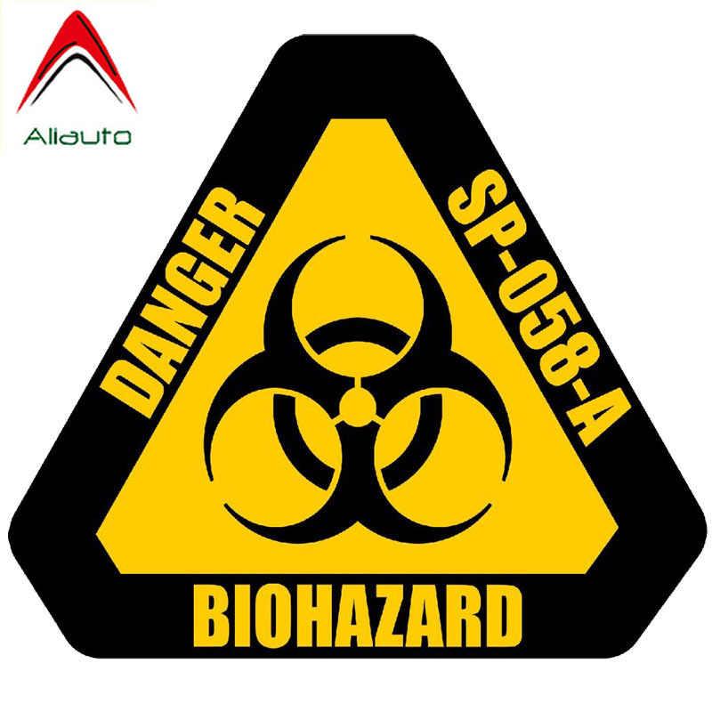 Aliauto Persönlichkeit Auto Aufkleber Gefahr Biohazard Zeichen Mark Motorrad Teile Warnung Reflektierende Zubehör PVC Aufkleber, 12cm * 10cm