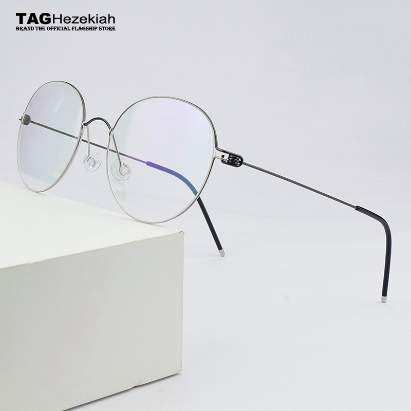 2020 New Round Titanium Glasses Frame Men Eyeglasses Women Optical Prescription Brand Eyewear Ultralight Myopia Spectacle Frames