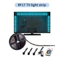 DC 5V USB LED Strip 5050 Waterproof RGB LED Light Flexible 2M with mini RF 17Key Remote For TV Background Lighting