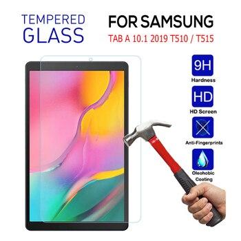 Película de vidro temperado para samsung galaxy tab, tela protetora de vidro para galaxy tab a 10.1 2019 t510 t515 a 10.1 ferramentas de limpeza de filme
