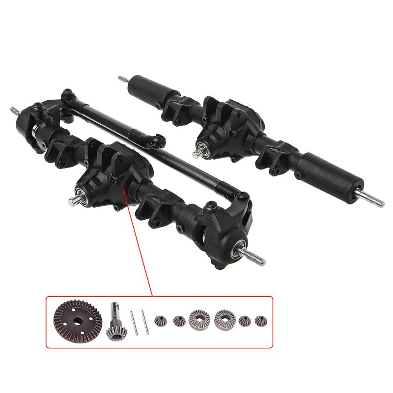 Front Rear Differential Axle For 1:10 RC Car Crawler Axial SCX10 II 90046 90047 Upgrade Parts