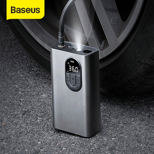 Baseus Car Air Compressor Inflatable Pump With LED Lamp For Motorcycle Bicycle Car Tyre Inflator Wireless Electric Air Pump 1