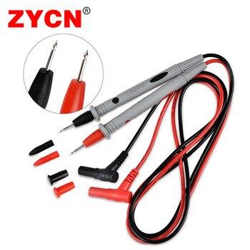 Sondas multímetro Digital ZYCN 1000V 20A multímetro Cable Feeler alambre P1502B multímetro cables de prueba punta de aguja sonda Universal