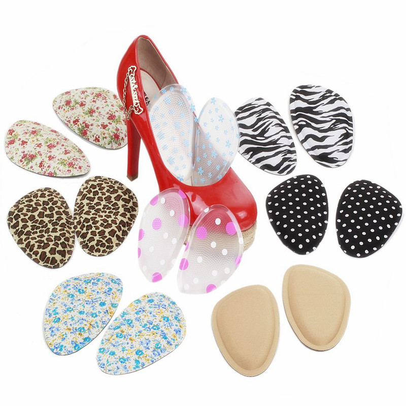 Forefoot Insole Shoes Pads High Heel Soft Insole Anti-Slip Foot Protection Foot Cushions Sponge Pain Relief Women Foot Care 2019