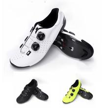 C3 kolarstwo samoblokujące buty nowe pełne Rapped Carbon Fiber Road BOA Dial termoplastyczne białe żółte Ultra lekkie twarde wyścigi tanie tanio CN (pochodzenie) Wiskoza Dla dorosłych Oddychające Buty rowerowe Syntetyczny Średnie (b m) Z włókna węglowego Hook loop