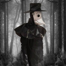 New Halloween Steampunk Plague Doctor Mask Cosplay Long Nose Bird Costume Fancy Gothic Leather For Rock Party