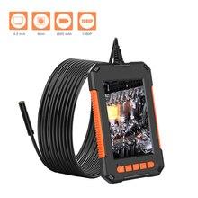P40 Portable Handheld Industrial Endoscope IP67 Waterproof 8mm Lens 4.3-Inch LCD Display Screen 1920*1080p HD Camera Borescope