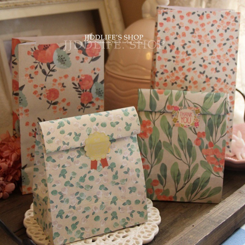 40pcs Romantic Japanese Floral Flat Gift Storage Bag 23*13*8cm book clothes storage free shipping