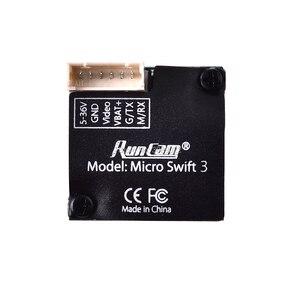 Image 4 - Runcam Micro Swift 3 V2 4:3 600TVL CCD Mini FPV Camera PAL/NTSC switchable Super WDR OSD Micro Camera for FPV Racing Drone