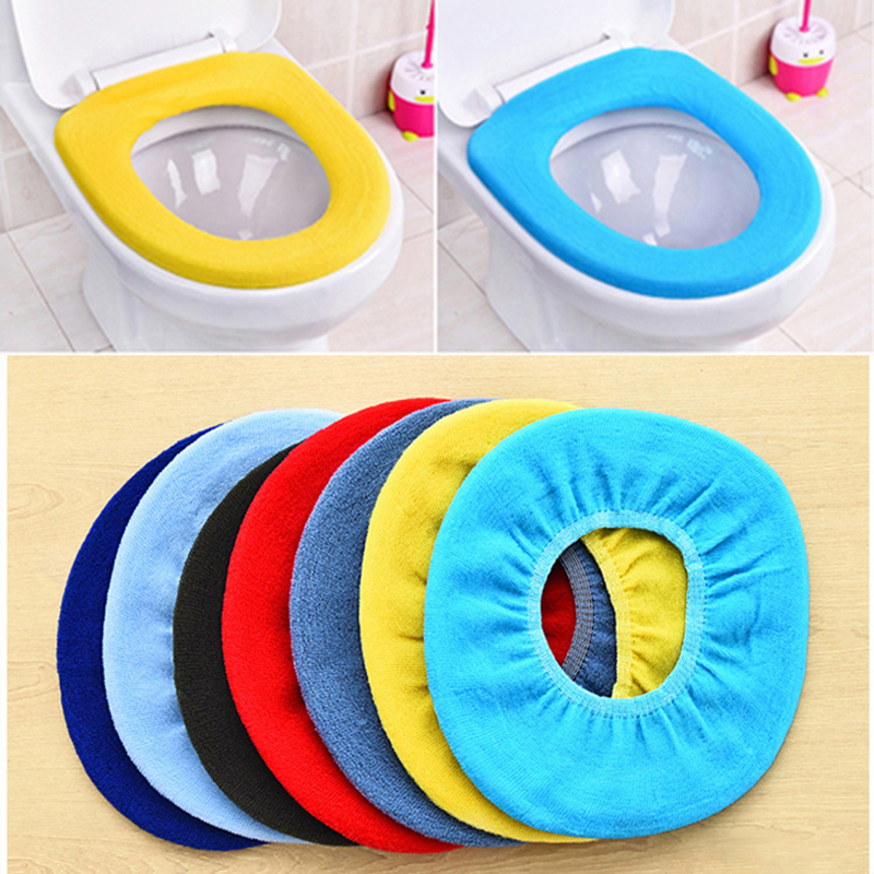 C-Easy 1 Pcs Bathroom Warmer Toilet Seat EVA Waterproof Toilet Seat Cover Pad Home Soft Thicker Washable Toilet Seat Cover Pads Suitable for Travel Pink