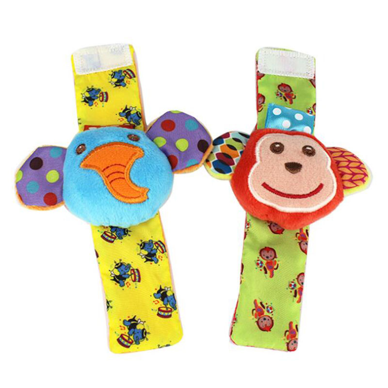 Baby Wrist Rattle Delicate Cute Kawaii Good Workmanship Skin-Friendly Fabric Baby Toy High Quality Cartoon Shapes Rattle Socks