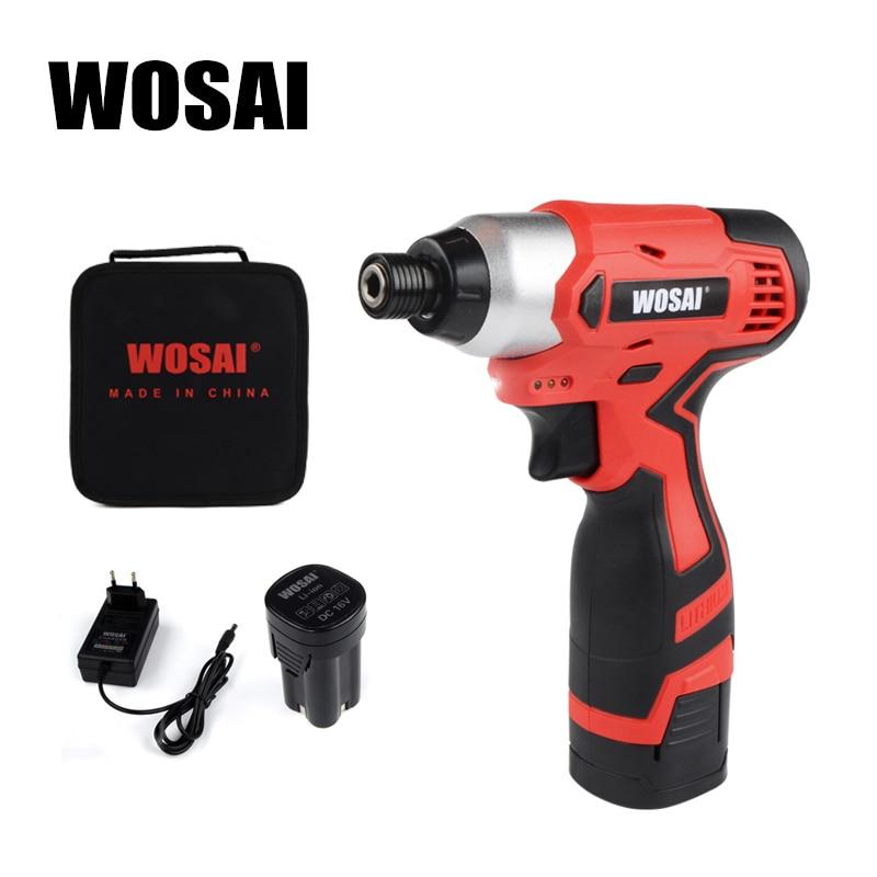 WOSAI 16 В аккумуляторная отвертка электрическая дрель 100 нм крутящий момент Электрический сверлильный станок мини ручная дрель беспроводной