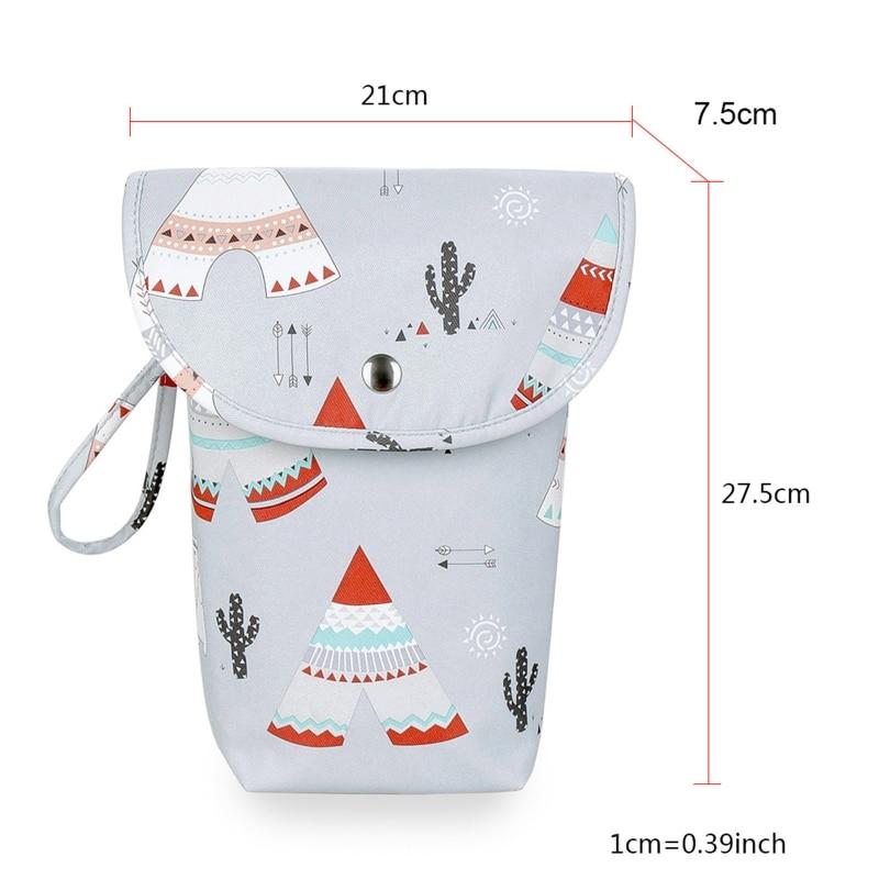 Multifunctional Baby Diaper Organizer Reusable Fashion Prints Mummy Storage Bag Travel Nappy Bags