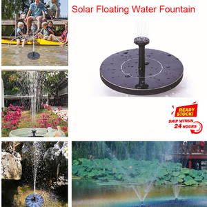 Dropshipping MINI Solar Fountain Floating Bird Bath Water Panel Fountain Pump Garden Pond Pool(China)