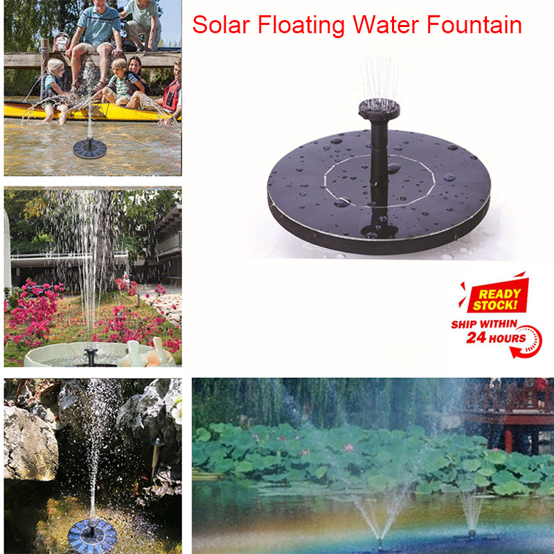 Dropshipping MINI Solar Powered Floating Bird Bath Water Panel Fountain Pump Garden Pond Pool
