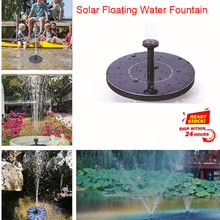 Dropshipping MINI Solar Powered Schwimm Vogel Bad Wasser Panel Brunnen Pumpe Garten Teich Pool(China)
