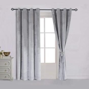 Cortinas de terciopelo liso para el dormitorio, tamaño personalizado, cortinas opacas modernas, cortinas para ventanas