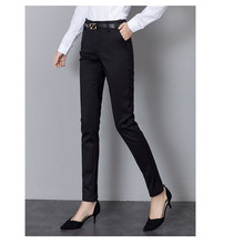 JUJULAND Womens OL Pencil Pants New Arrival Elegant Ladies Office Work Elastic Casual Cotton Trousers Women 53351
