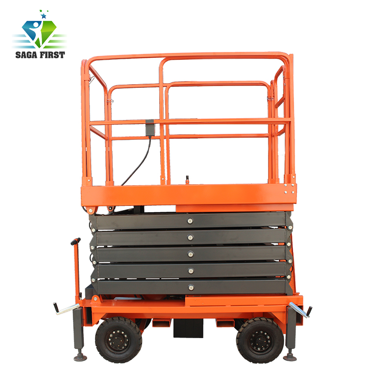 Mobile Scissor Lift With Hydraulic Motor