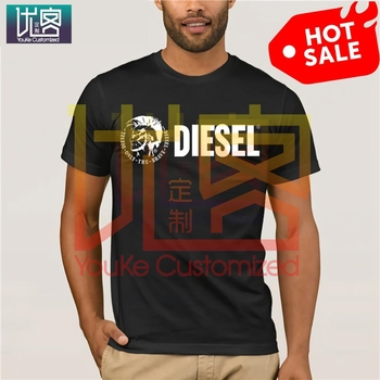 DIESEL Fashion men free shipping Mens T-shirt Simple Short Sleeve Street new Casual Tees 100% Cotton Clothes T Shirt