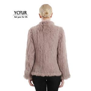 Image 4 - YCFUR vestes en fourrure véritable pour femmes, veste en fourrure de lapin épaisse tricotée pour femmes, veste dhiver pour femmes