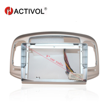 HACTIVOL 2 Din Car Radio face plate Frame for Hyundai Accent 2006-2011 Car DVD GPS Navi Player panel dash mount kit car product hactivol 2 din car radio face plate frame for chevrolet lova captiva aveo epica 2006 2011 car dvd player panel dash mount kit