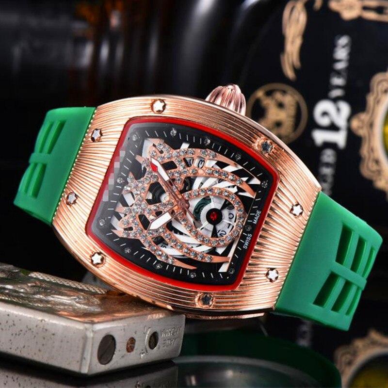 Mens Richard Watches Top Brand Luxury RM Mille 1: 1 Watch Men's Quartz Automatic Wristwatches DZ Male Clock Reloj Hombre 2020