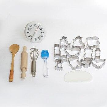 Utensilios para hornear para niños juguetes de cocina para niños casa de juegos regalo para niños de 3 ~ 6 años de edad de destreza básica Material Montessori práctico
