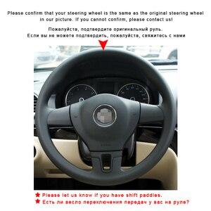 Image 3 - Auto Treccia Sul Volante Della Copertura per Volkswagen VW Tiguan Lavida Passat B7 Jetta Mk6 senza Originale In Pelle Auto coperture