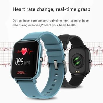 2021 New P8 Color Screen Smart Watch Women men Full Touch Fitness Tracker Blood Pressure Smart Clock Women Smartwatch for Xiaomi 2