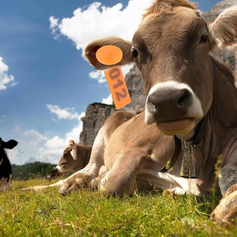 100 pcs Ear Tag Sheep Goat Pig Cattle Cow Farm Animals Livestock