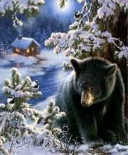 5d алмазная живопись «сделай сам» полная вышивка круглый медведь