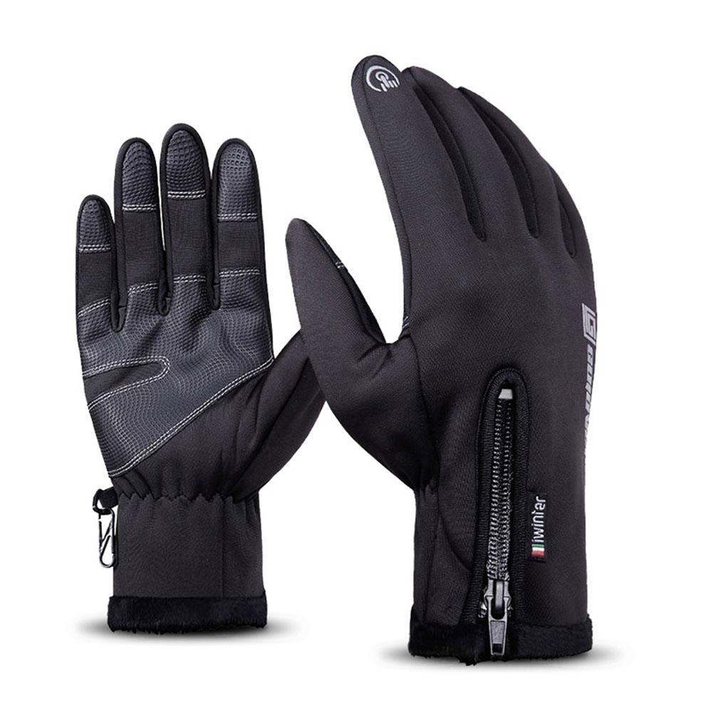 GloryStar Men Ski Gloves Women Winter Warm Waterproof Windproof Touch Screen Gloves Outdoor Sport Ski Gloves Black