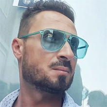 OLOEY New Candy Color Sunglasses Women Transparent Frame Classic Shades Sun Glasses Men Retro Eyewear Oculos UV400