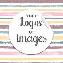 Pegatinas personalizadas para cumpleaños, adhesivos de 3,5/4,5/6 cm para bautismo y boda, logotipos