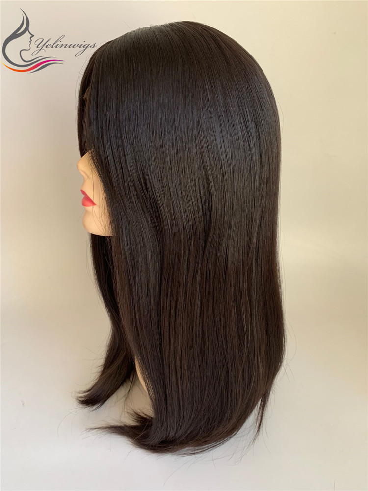 Top Quality Natural European Virgin Hair Jewish Wig Kosher Wig With Lace Front European Hair Wigs