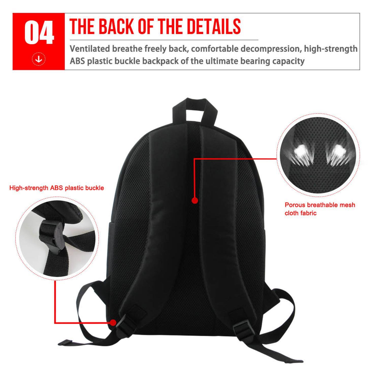 FORUDESIGNS Girls Backpacks Black Art African American Girls School Bag For Girl Kids Breathable School Bag Travel Fashion Bolsa