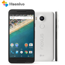 LG Nexus 5X RefurbOriginal Entsperrt H791 Hexa Core 5,2 Zoll 2GB RAM 16/32GB ROM LTE 4G 13,0 MP Kamera 1080P Android 6,0