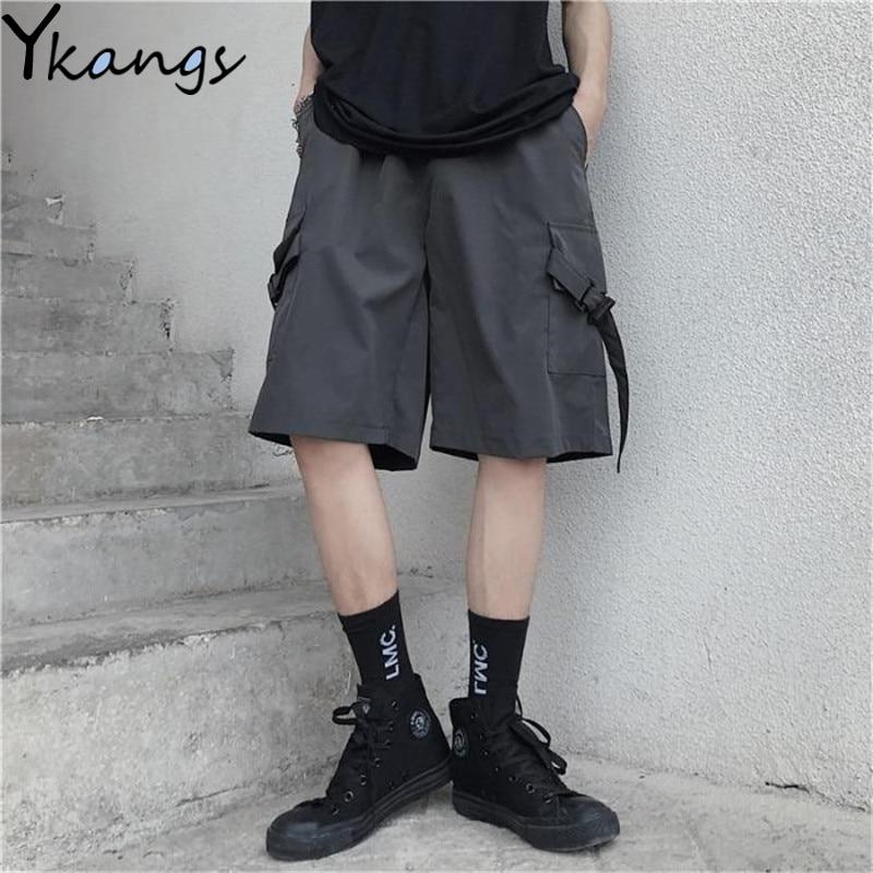 Cargo Shorts Korean Harajuku Women's Clothing Couple Streetwear Big Pockets Casual High Waist Summer Capris Female Unisex Summer