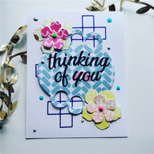 Naifumodo Letter Think of You Metal Cutting Dies for Card Making Scrapbooking Dies Embossing Cuts Stencil Craft New 2019 Dies