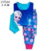 LYTLM/комплект детских пижам для мальчиков, пижамы с рисунком для девочек, комплекты одежды для сна с длинными рукавами, детская одежда для сна...