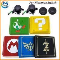 닌텐도 스위치 게임 카드 케이스 스토리지 박스 닌텐도 스위치 12in1 ns 게임 카드 케이스 + 3d 아날로그 joysticker 액세서리