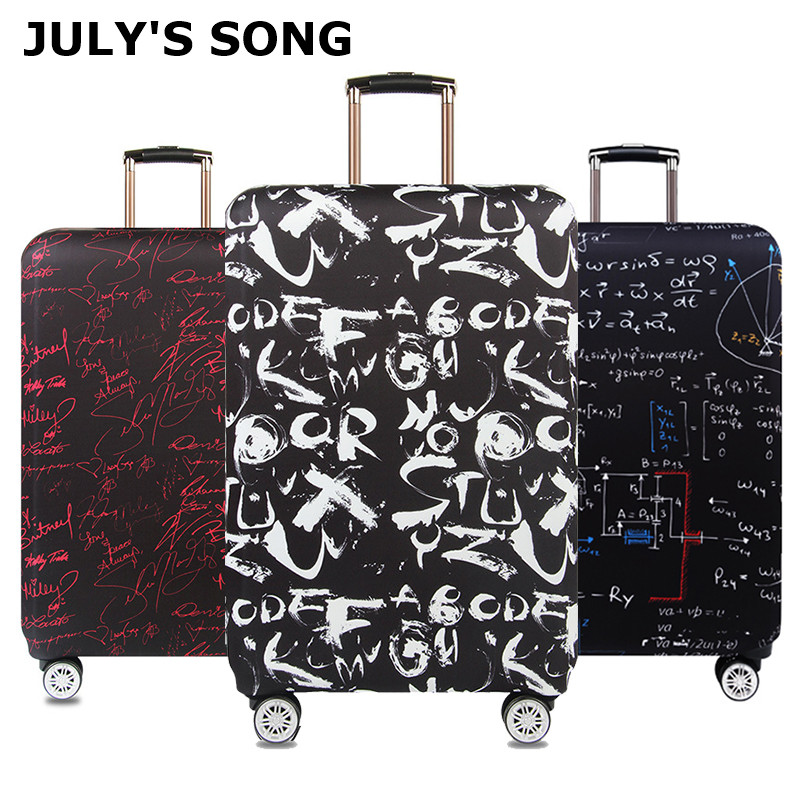 JULY'S SONG Letters Luggage Cover Thick Travel Case Cover Protector Luggage Case For 18''-32''Suitcase Travel Accessories