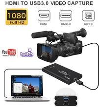 Оригинальная видеокарта HDMI USB 3,0 для трансляции потокового видео и записи в реальном времени 1080P для телефона PS4 TV BOX Game Grabber Converter