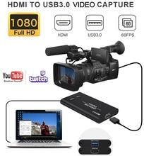 Oryginalna karta przechwytywania wideo HDMI na USB 3.0 transmisja przekaz na żywo i nagrywanie 1080P na telefon PS4 TV, pudełko do gier Grabber Converter
